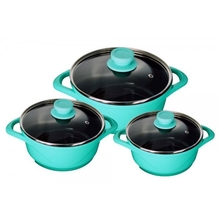 Wonderchef Cookware 6 Piece Ceramide Set, Aqua Marine