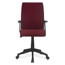 Nilkamal Thames Medium Back Fabric Office Chair, Maroon