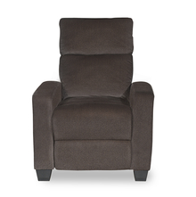 Gloria 1 Seater Sofa with 1 Manual Recliner - @home by Nilkamal, Choco Brown