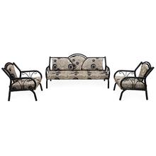 Nilkamal Lemond Metal Sofa 3+ 1+ 1, Black & White