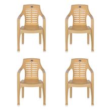 Nilkamal CHR6020 Chair Set of 4 - Marble Beige