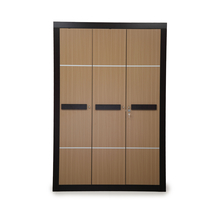Nilkamal Cedar 3 Door Wardrobe, Teak/Walnut