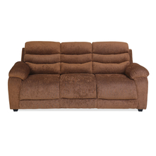 Perkins 3 Seater Sofa - @home by Nilkamal, Hazel Brown