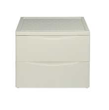 Nilkamal Chester 42 Chest of 2 Drawer, Ivory