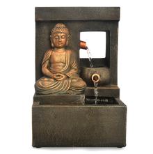 Spring Buddha Water Fountain - @home by Nilkamal, Brown