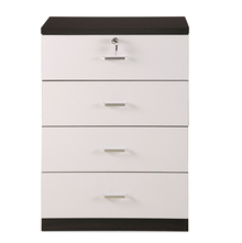 Aston 4 Chest of Drawers - @home by Nilkamal, Walnut & White
