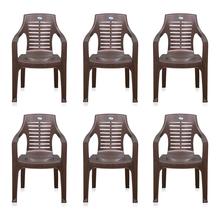 Nilkamal CHR6020 Chair Set of 6 - Weather Brown