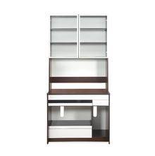 Trivor Medium Computer Desk - @home by Nilkamal, Walnut & White