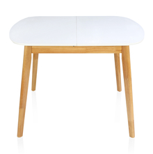 Mainland 4 Seater Extendable Dining Table - @home by Nilkamal, Light Oak