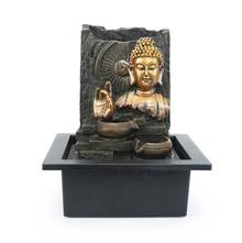 Buddha Dhayana Water Fountain - @home by Nilkamal, Gold