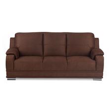 Nilkamal Blossom 3 Seater Sofa, Brown