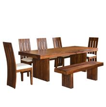 Delmonte 1+ 5+ Bench Dining Set - @home by Nilkamal, Walnut