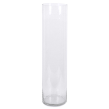 Cylinder Tall Vase - @home by Nilkamal, Clear