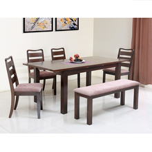Omaha 1+ 4+ Bench Dining Kit - @home by Nilkamal, Walnut