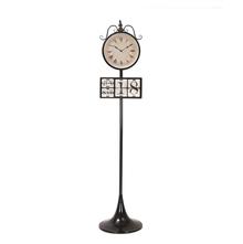 Time & Date Floor Clock - @home by Nilkamal, Black