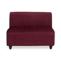 Bolt 2 Seater Sofa without Arm - @home by Nilkamal, Maroon