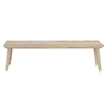 Magix 3 Seater Dining Bench - @home by Nilkamal, White Natural
