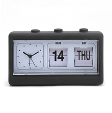 Table Alarm Clock with Date and Day - @home by Nilkamal, Black