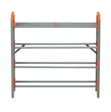 Nilkamal Redley 4 Layer Iron Shoe Rack, Orange