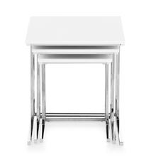 Luca Set of 3 Nesting Table - @home by Nilkamal, White