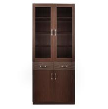 Winner 2 Door Library Cabinet - @home by Nilkamal, Dark Walnut