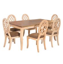 Miraya 6 Seater Dining Kit - @home By Nilkamal, Brown Glaze