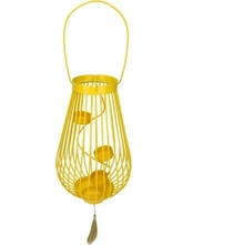 Maurya Hanging Tealight Holder- @home By Nilkamal, Yellow