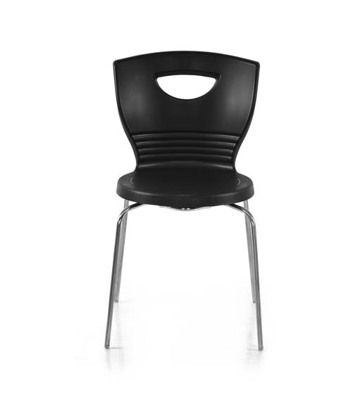 Novella 15 Stainless Steel Leg Without Arm Without Cushion - @home Nilkamal,  black