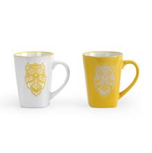 Wise Owl Coffee Mug Set of 2 - @home by Nilkamal, Yellow