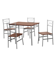 Wendy 4 Seater Dining Set - @home by Nilkamal, Walnut