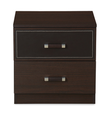 Emirates Night Stand - @home by Nilkamal, Dark Walnut