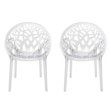 Nilkamal Crystal PC Chair Set of 2, Clear