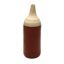 Spun Bamboo Large Vase - @home by Nilkamal, Maroon