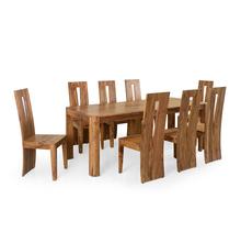 Granada 8 Seater Dining Set - @home by Nilkamal, Natural Walnut