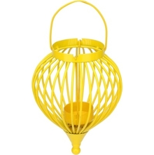 Boond Hanging Tealight Holder- @home By Nilkamal, Yellow