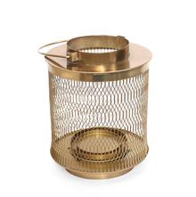 Jali Lantern Candle Holder - @home by Nilkamal, Gold