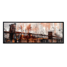 City Life Spring Picture Painting 50 x 150 - @home By Nilkamal, Brown & Fuschia
