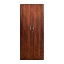 Nilkamal Reegan 2 Door Wardrobe Without Mirror, Walnut