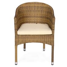 Nilkamal Mildura Garden Chair, Brown & Grey