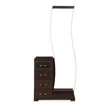Emirates Dresser with Mirror - @home by Nilkamal, Dark Walnut