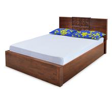 Monalisa King Bed - @home by Nilkamal, Caramel Walnut