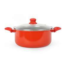 Bergner Bellini Marble 26 cm Casserole with Lid, Red