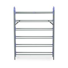 Nilkamal Redley 6 Layer Iron Shoe Rack, Blue