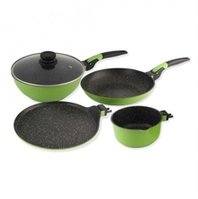 Wonderchef Click Amaze Cookware Set of 4, Green