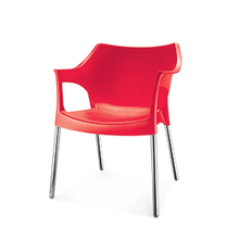 Novella 10 stainless steel Leg With Arm Without Cushion - @home Nilkamal,  red