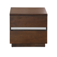 David Night Stand - @home by Nilkamal, Dark Walnut